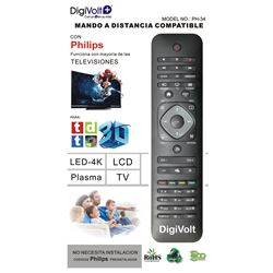 Digivolt Mando Universal Para Philips PH-34 - MD PH-34 PHILIPS ONE TO ONE REMOTE