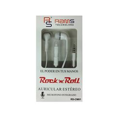 Rams Auricular Stero C/Micro Para Movil RS-CM01 - RS-CM1