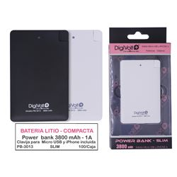 Digivolt Power Bank Slim 3800 mAh/1A PB-3013 - PB-3013