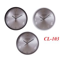 Timemark Reloj De Pared Redondo Fondo Metal CL-103 - CL-103