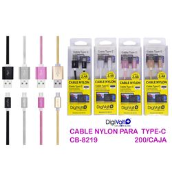 Digivolt Cable Nylon 2.4a Para Type-C CB-8219 - CB-8219