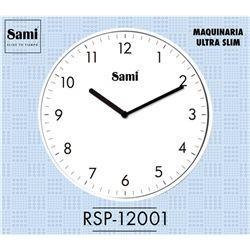 Sami Reloj Pared Slim Blanco 25.5cm RSP-12001 - RSP-12001