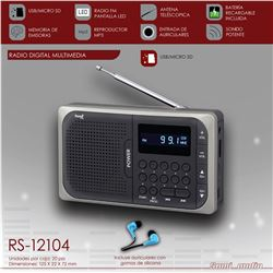 Sami Radio Digital Usb Sd Mp3 Batería RS-12104 - RS-12104