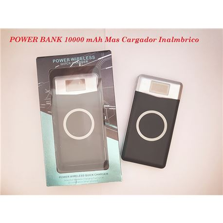 Power Bank Con Cargador Inalmbrico 10000 mAh MP015 - MP015