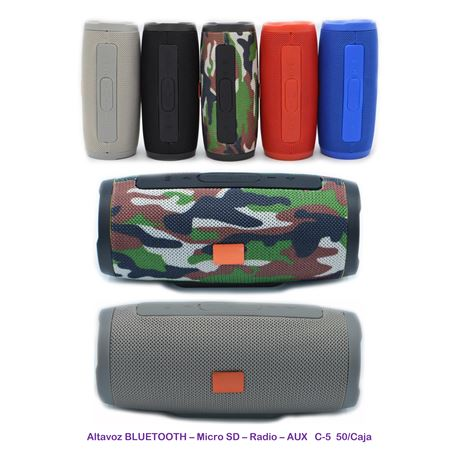 Altavoz Bluetoth Usb Sd Colores X83 - ALTAVOZ C-5