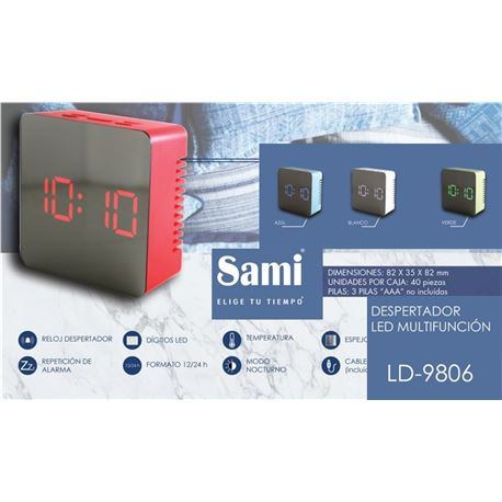 Sami Despertador Digital LED LD-9806 - LD-9806