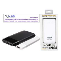 Digivolt Power Bank Doble Usb 12000 mAh/2.4A PB-3025