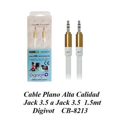 Cable Plano Audio Jack a Jack 3.5 1.5mt Alta Calidad CB-8213 - CB8213