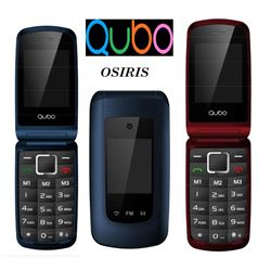 "Qubo Telefono Movil Senior 2.4"" con Tapa OSIRIS"