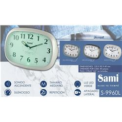 Sami Despertador Analógico Led S-9960 - S-9960