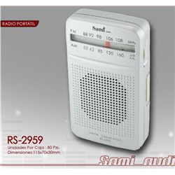 Sami Radio Am/Fm Mini Vertical C/Aur RS-2959 - RS-2959