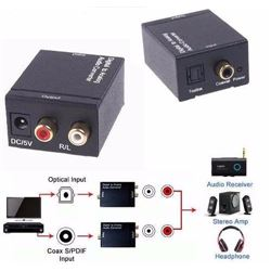 Convertidor de Digital Fibra Optica a Audio 2 Rca WF053 - WF053