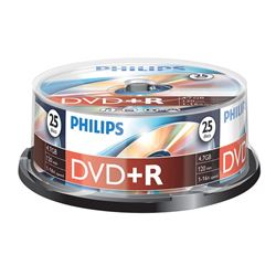 Verbatin/philiphs DVD+R Tarrina 25 Uds D25+ - D25+PH