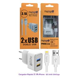 Digivolt Cargador Iphone 2 Usb 3100 mA QC-2430 - QC-2430