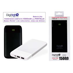 Digivolt Power Bank Doble Usb 15000 mAh/2.4A PB-3026 - PB-3027