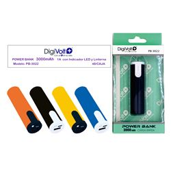 Digivolt Power Bank 3000 mAh/1A C/Linterna PB-3022 - PB-3022