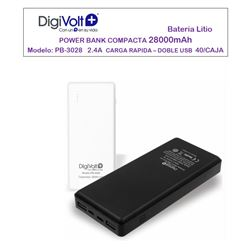 Digivolt Power Bank Doble Usb 28000 mAh/2.4A PB-3028 - PB-3028