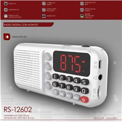 Sami Radio Digital Usb Sd Mp3 Batería RS-12602 - RS-12602