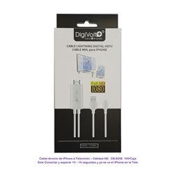 Digivolt Cable MHL para Iphone a Tv Hdmi CB-8256 - CB-8256
