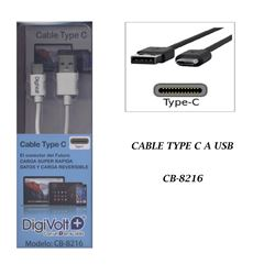 Digivolt Cable Type-C a Usb Carg y Datos CB-8216 - CB-8216