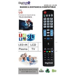 Digivolt Mando Universal Para LG LG-39 - MD LG-39 LG BIG SIZE ONE TO ONE REMOTE