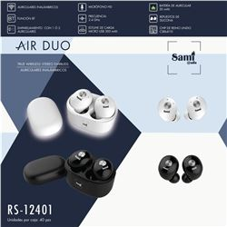 Sami Auricular Air Duo Tws C/Base Cargagador RS-12401 - RS-12401