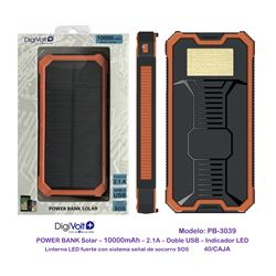 Digivolt Power Bank Solar 10000 mAh/2 Usb PB-3039 - PB-3039